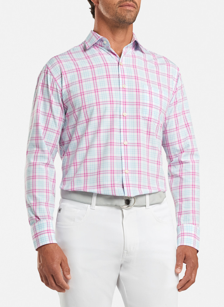Sonny Natural Touch Sport Shirt in White by Peter Millar