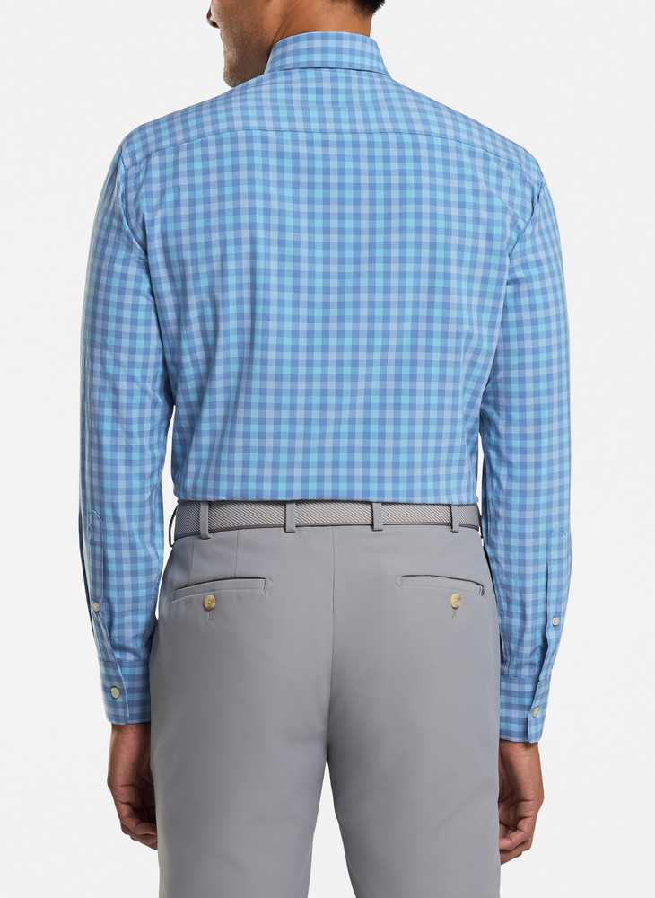Cornelius Natural Touch Sport Shirt in Lake Blue by Peter Millar