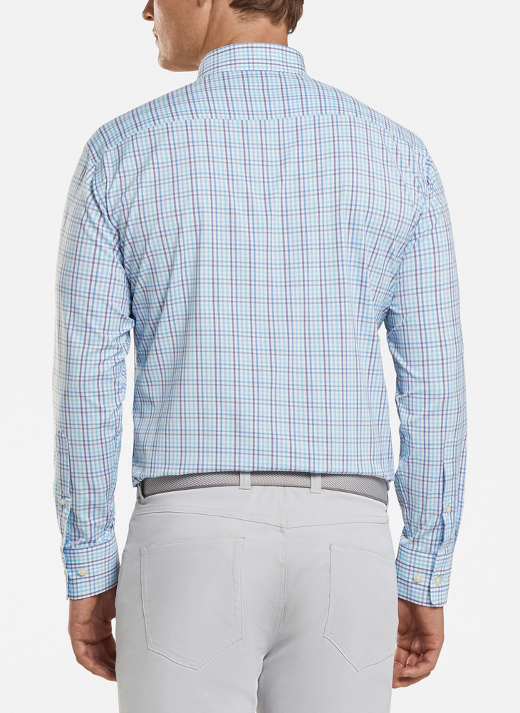 Oliver Performance Sport Shirt in Tropical Blue by Peter Millar