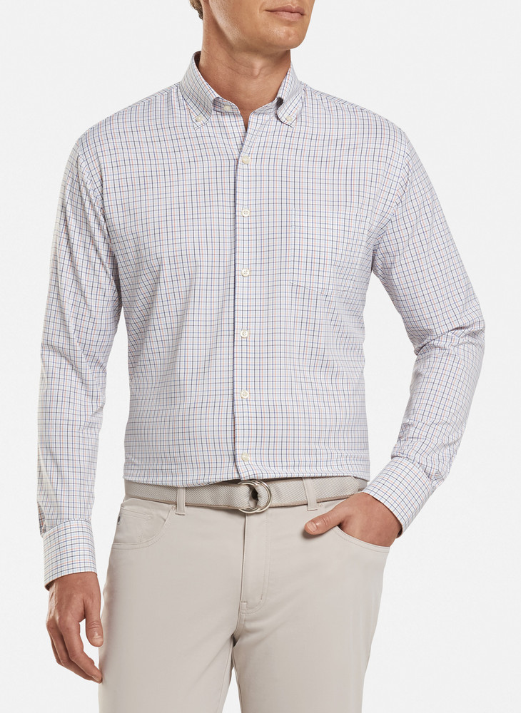 Nash Performance Sport Shirt in White by Peter Millar