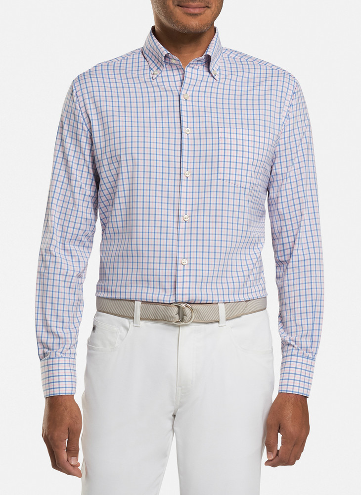 Naylor Performance Sport Shirt in Lake Blue by Peter Millar