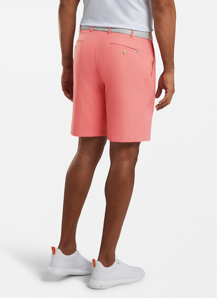 Salem High Drape Performance Short in Red Ginger by Peter Millar