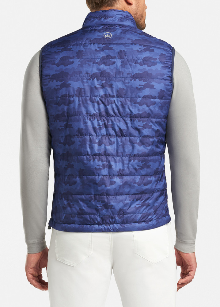 Camo Hyperlight Performance Vest in Blue Lapis by Peter Millar