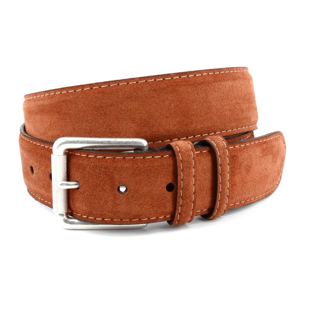 European Sueded Calfskin Belt in Walnut by Torino Leather Co.