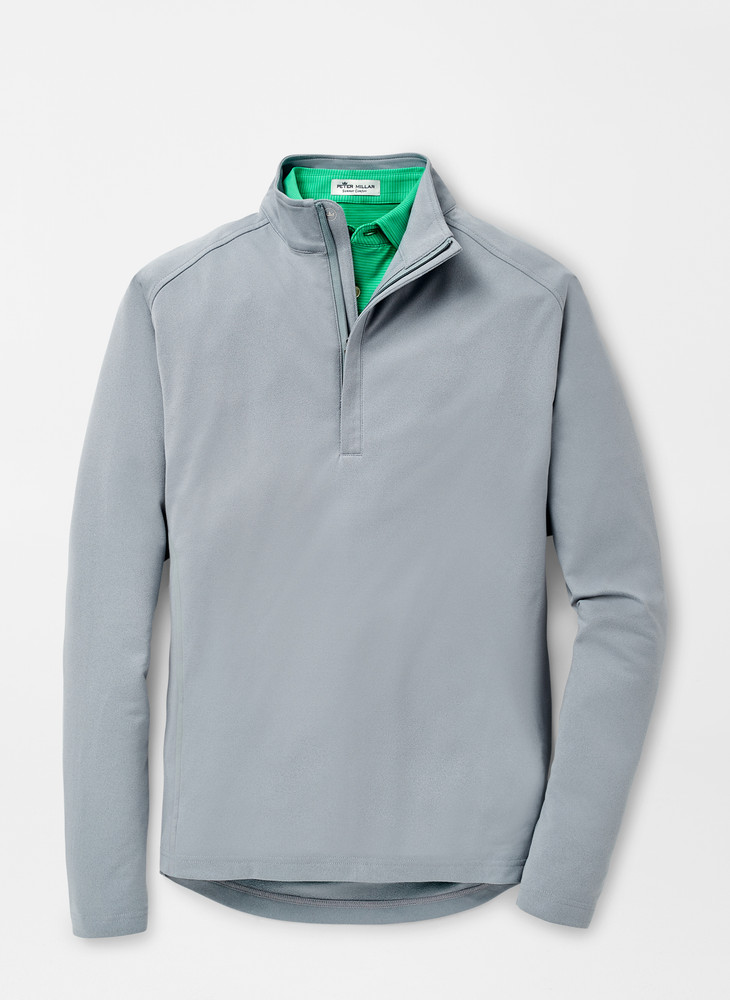 Blast Performance Windbreaker Quarter-Zip in Gale Grey by Peter Millar