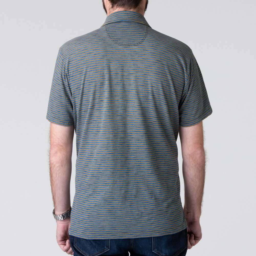 Harbor Polo in Indigo and Olive by H. Goose