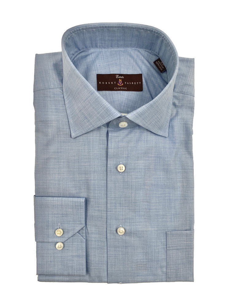 Chambray Ultimate Twill Estate Sutter Classic Dress Shirt by Robert Talbott