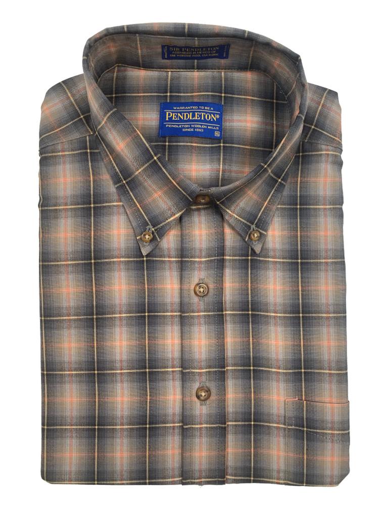 Grey and Red Plaid Sir Pendleton Cotton Shirt by Pendleton