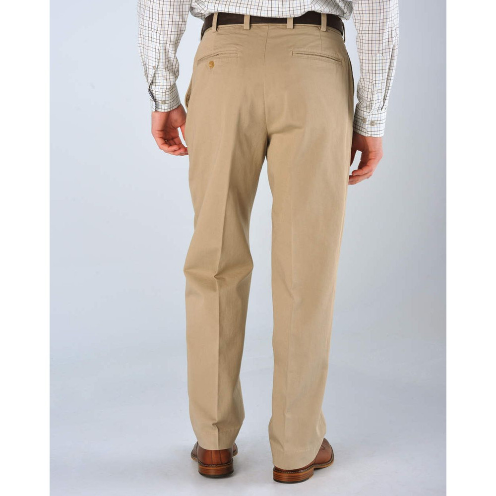 Original Twill Pant -(Size38x30) Model M1 Relaxed Fit Plain Front in British Khaki by Bills Khakis