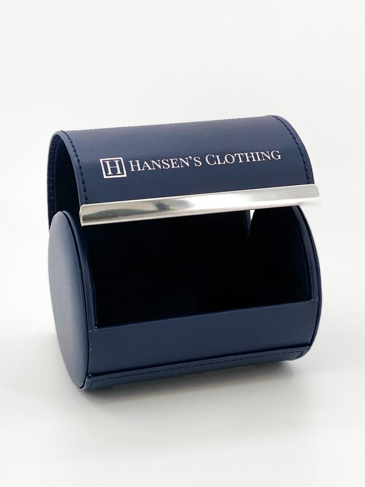 Spring 2020 Green and Blue Neat Woven Silk Tie by Robert Jensen