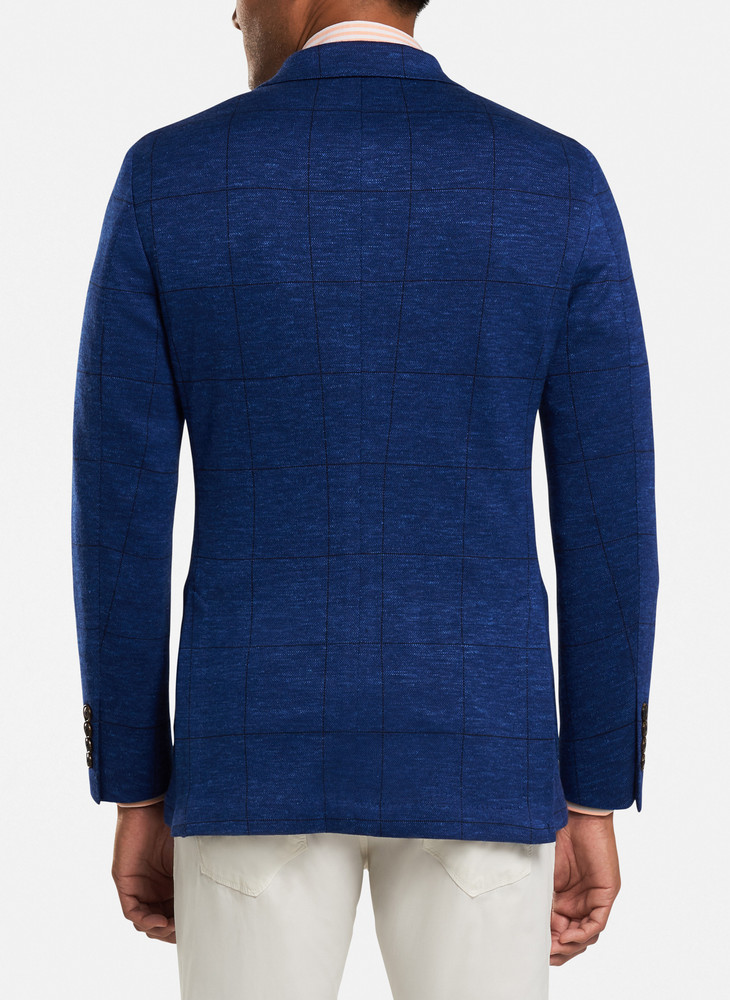 Sails Jersey Soft Jacket in Straight Blue by Peter Millar