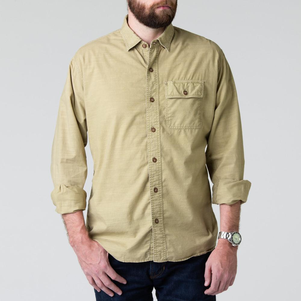 Quinn Work Shirt in Khaki by H. Goose