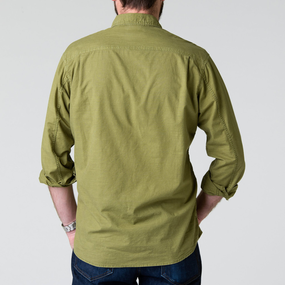 Quinn Work Shirt in Olive by H. Goose