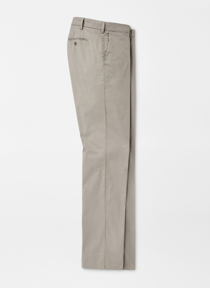 Crown Soft Flat-Front Trouser in Gale Grey by Peter Millar