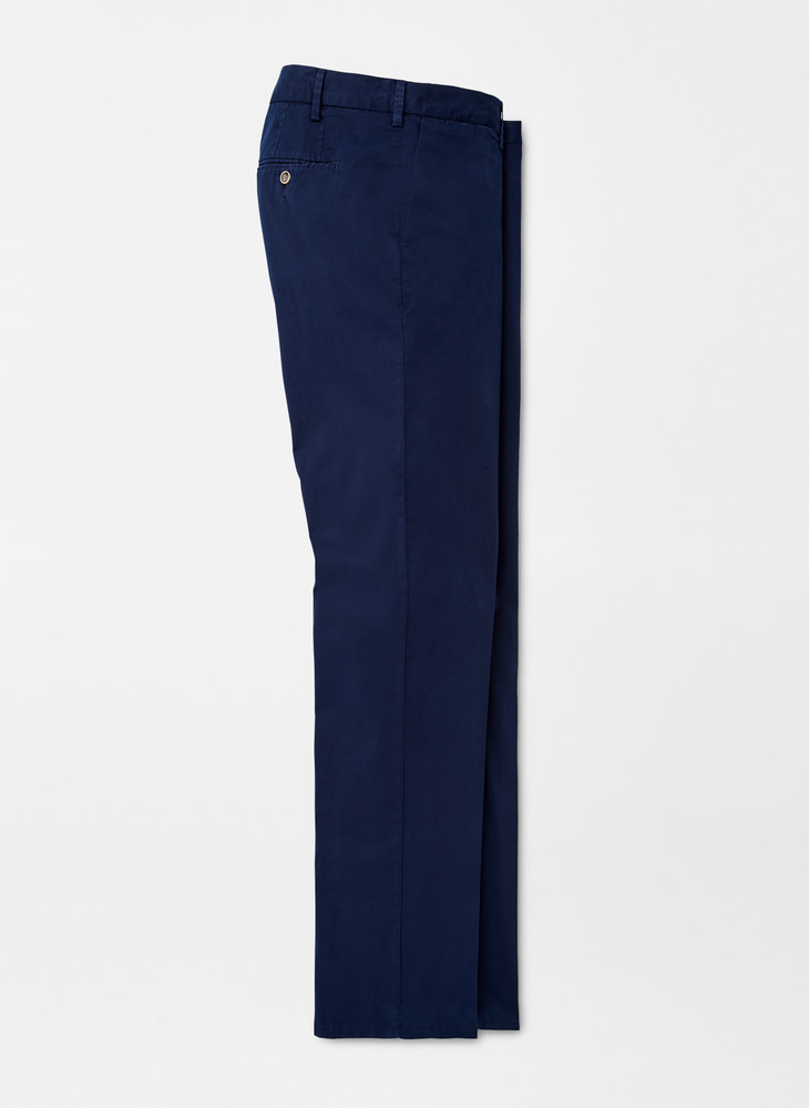 Crown Soft Flat-Front Trouser in Navy by Peter Millar