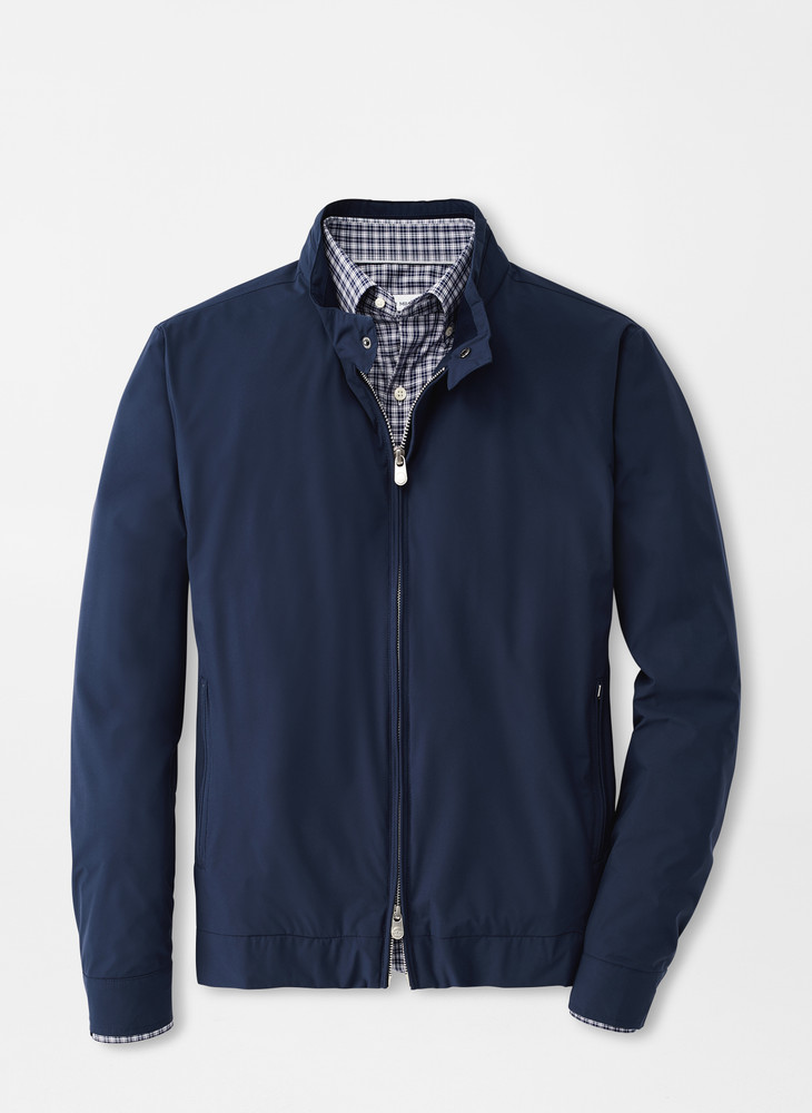 Crown Soft Bomber in Navy by Peter Millar