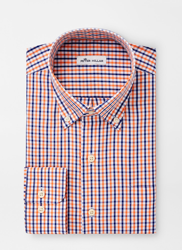 Crown Soft Trey Sport Shirt in Blue Lapis by Peter Millar