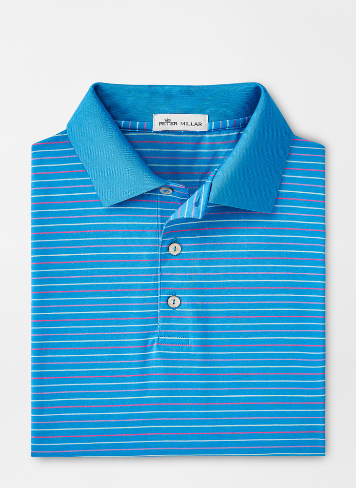 Augustine Cotton Polo in Riverbed by Peter Millar