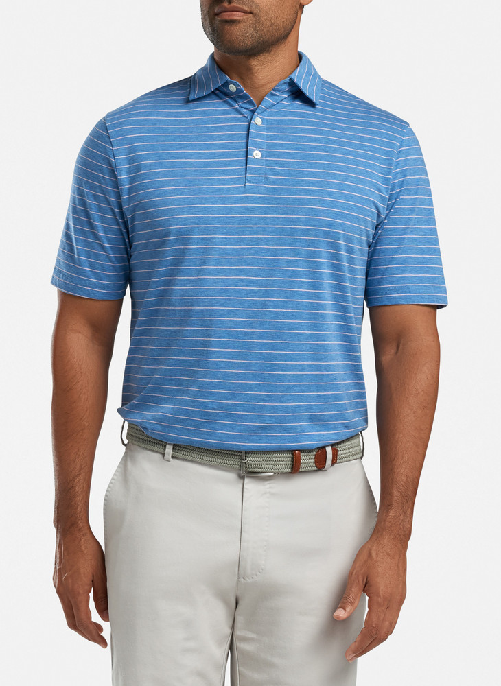 Crown Soft Wickford Polo in Lake Blue by Peter Millar