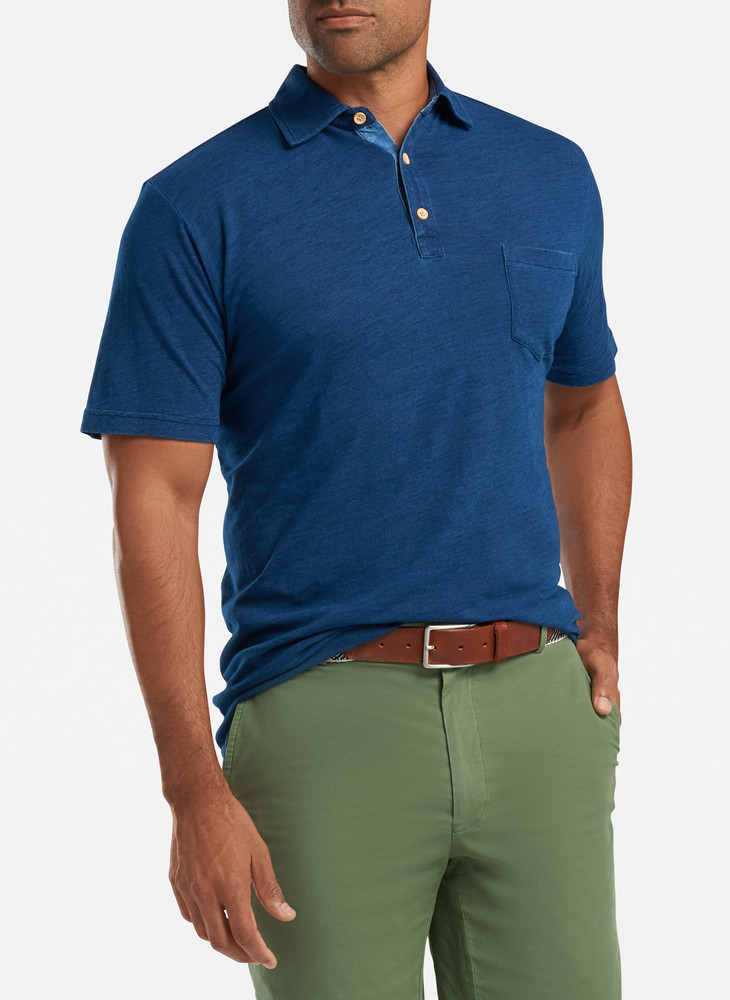 Seaside Whitaker Polo in Indigo by Peter Millar