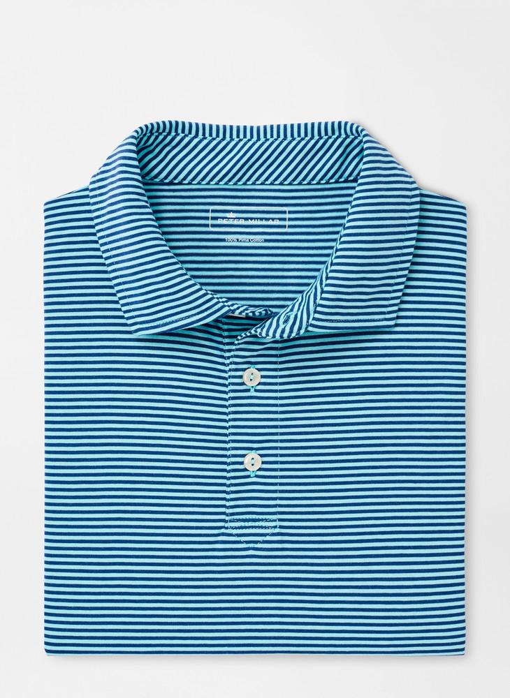 Kribi Beach Aqua Cotton Polo in Pool Blue by Peter Millar