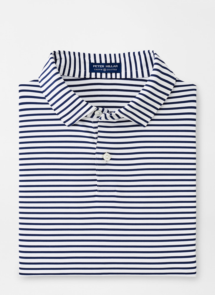 Miles Performance Polo in Navy and White by Peter Millar