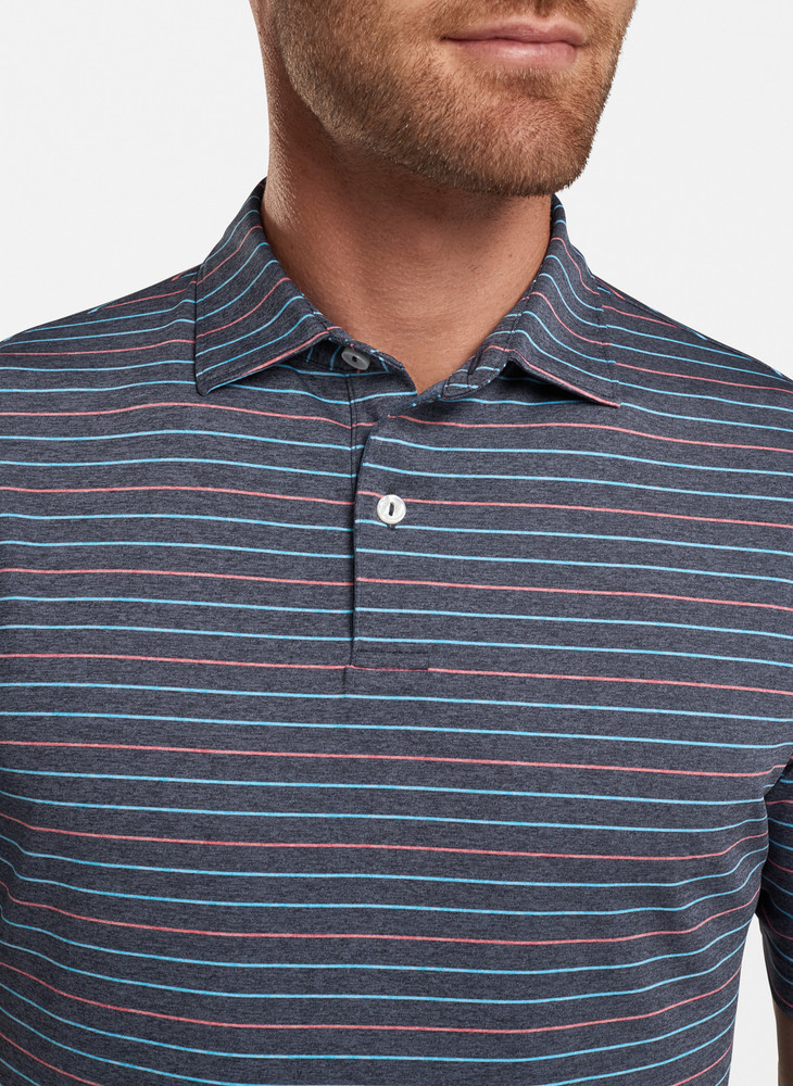 Jolson Performance Polo in Navy by Peter Millar