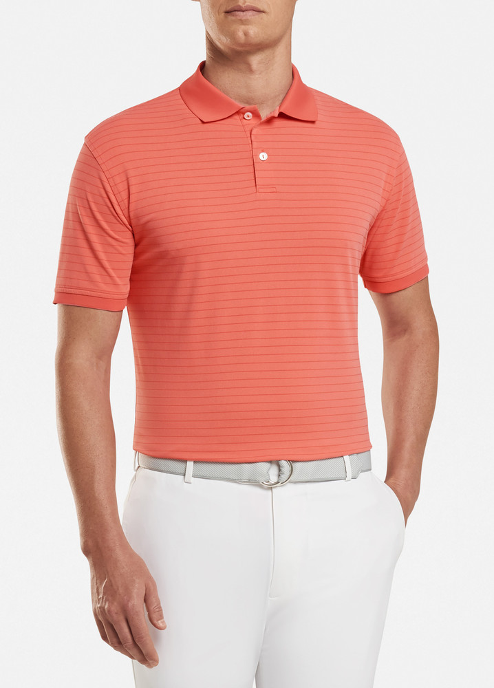 Moon Performance Piqué Polo in Cerise by Peter Millar