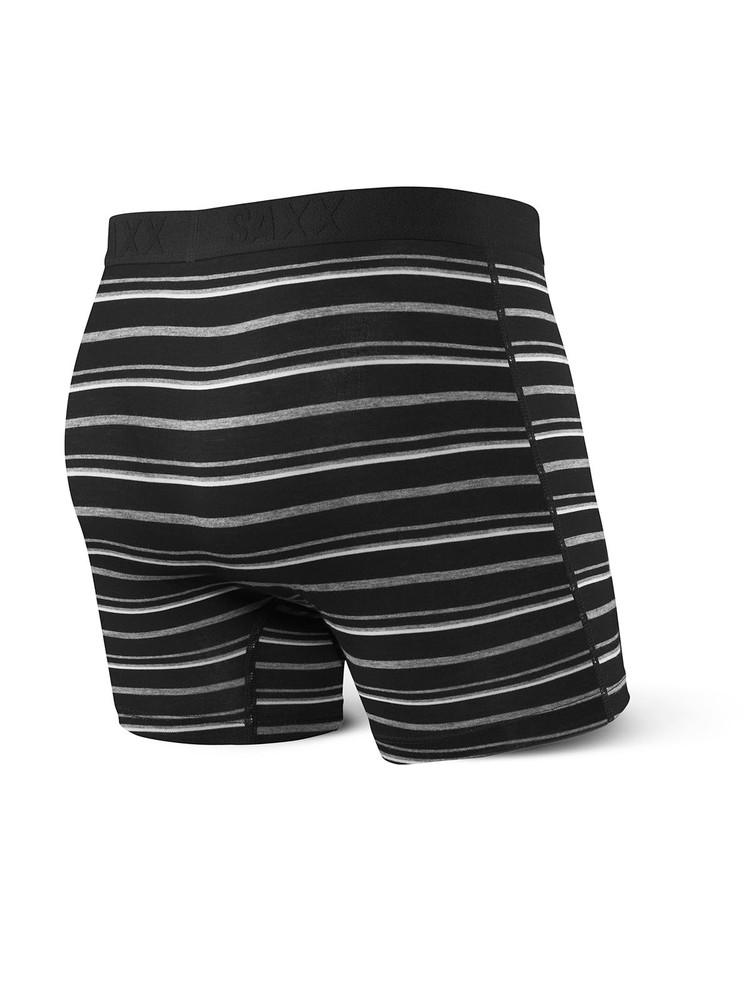 Vibe Boxer Brief in Black Coast Stripe by SAXX Underwear Co.