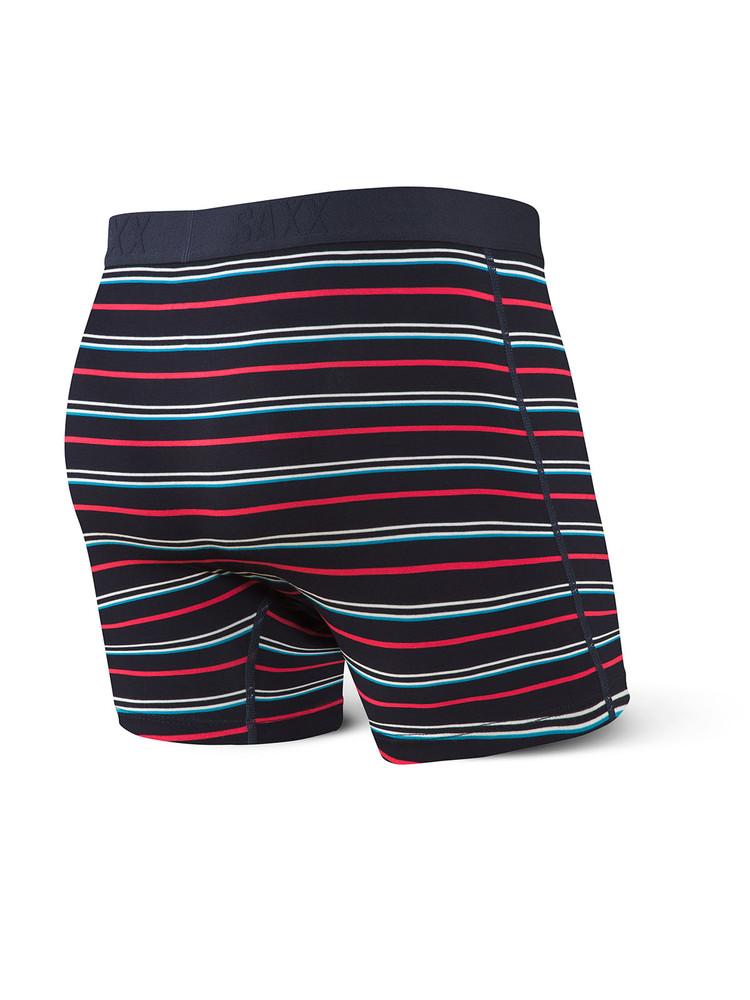 Vibe Boxer Brief in DK Ink Coast Stripe by SAXX Underwear Co.
