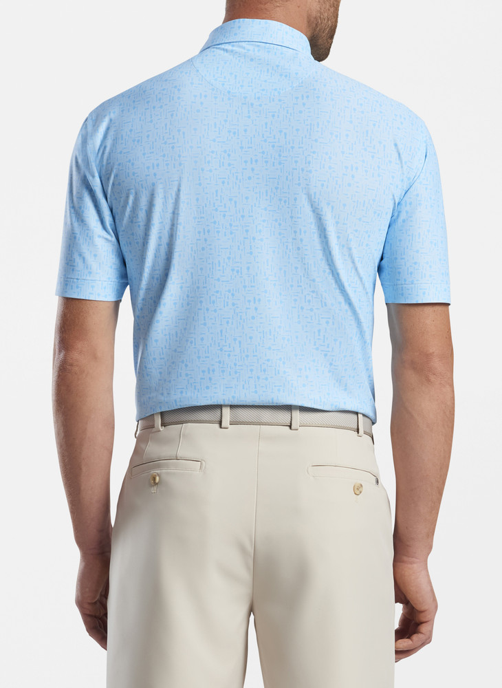 Moore Performance Polo in Frost Blue by Peter Millar