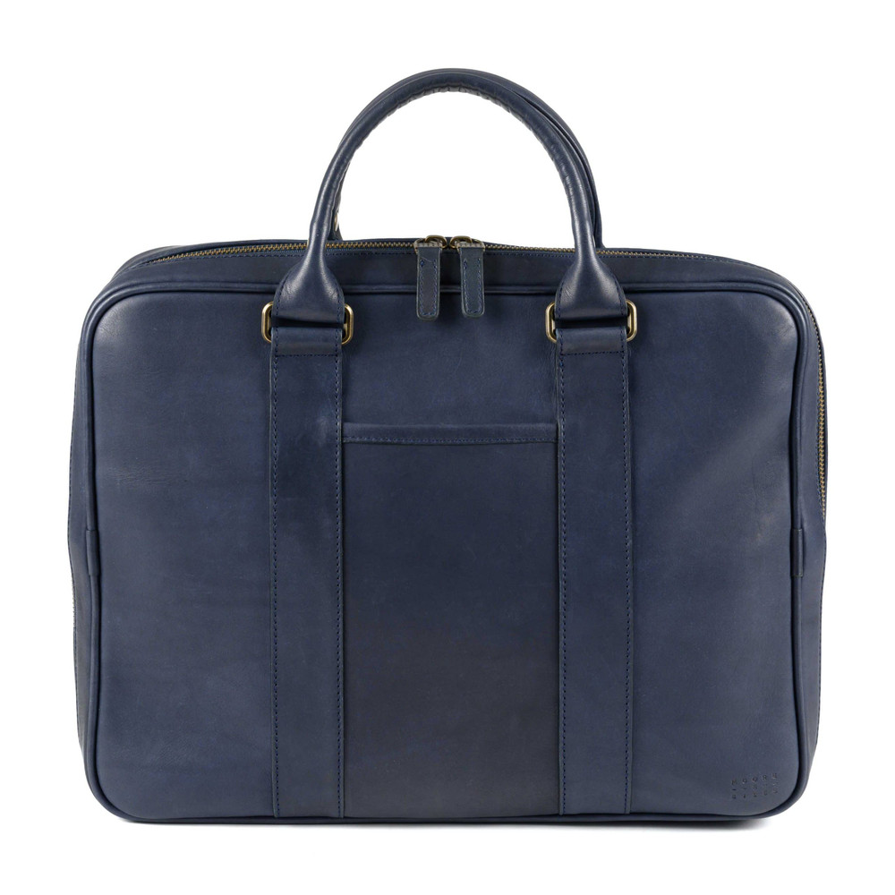 Bryant Tech Briefcase in Kireina Navy by Moore & Giles