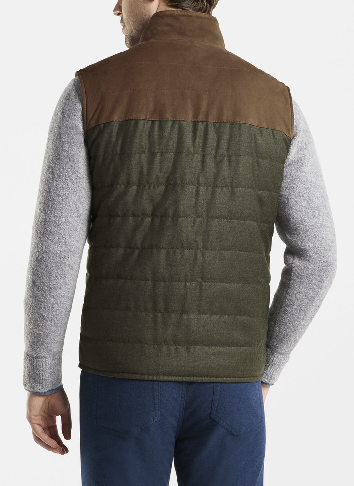 Suede & Wool Vest in Forest Green by Peter Millar