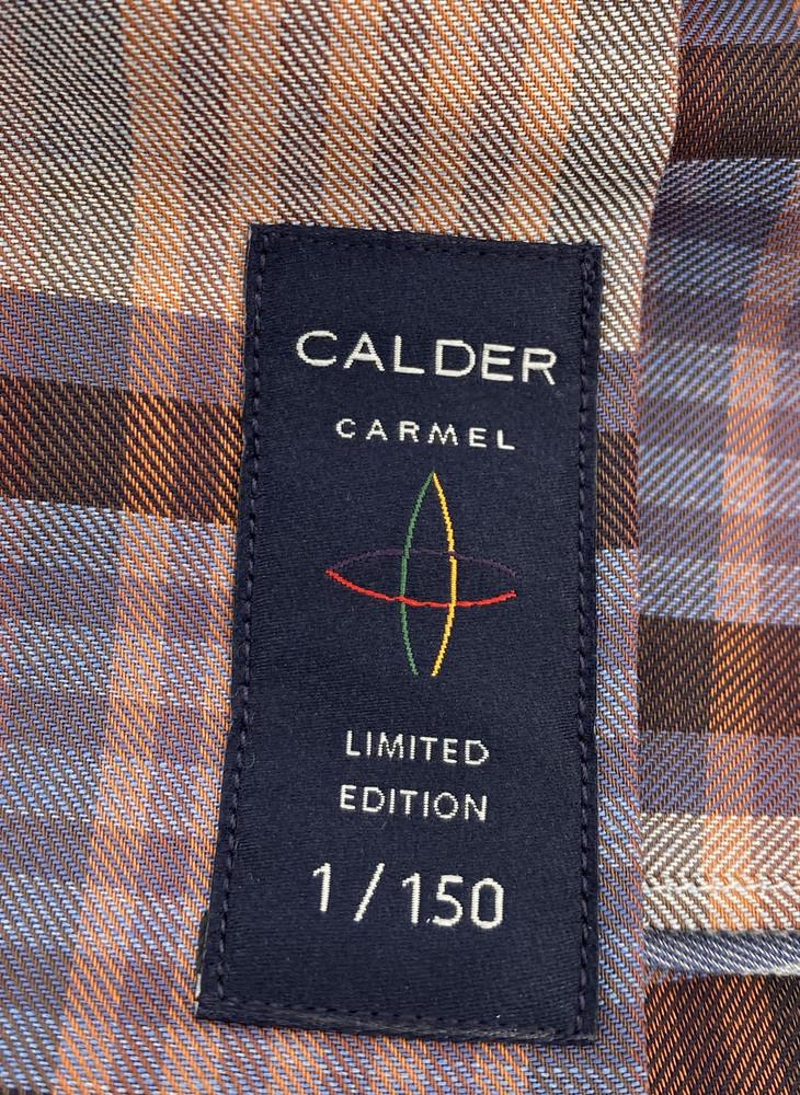 Melange Twill Exploded Plaid Sport Shirt in Sky Blue by Calder Carmel
