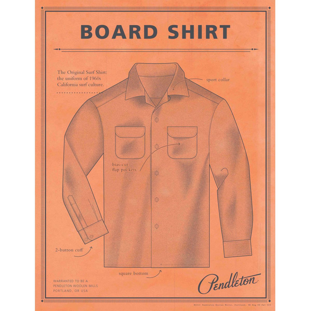 Board Shirt in Taupe, Blue and Navy Ombre by Pendleton