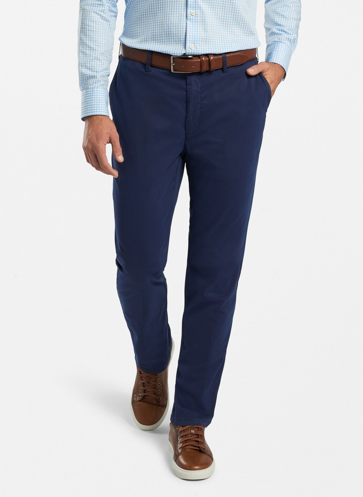 Crown Soft Flat-Front Trouser in Gale Grey 34x31 by Peter Millar