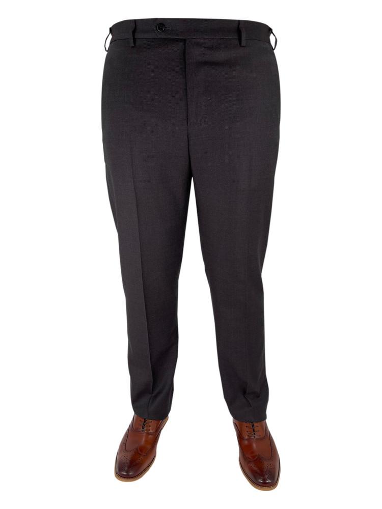Fall 2020 Devon Flat Front Dress Trouser in Dark Grey by Zanella