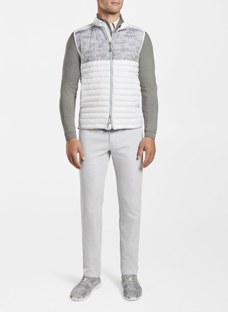 Colorblock Hyperlight Quilted Vest in White by Peter Millar