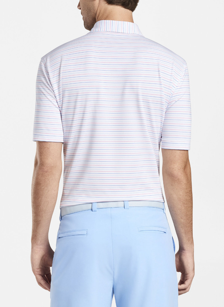 Boat Performance Jersey Polo in White by Peter Millar