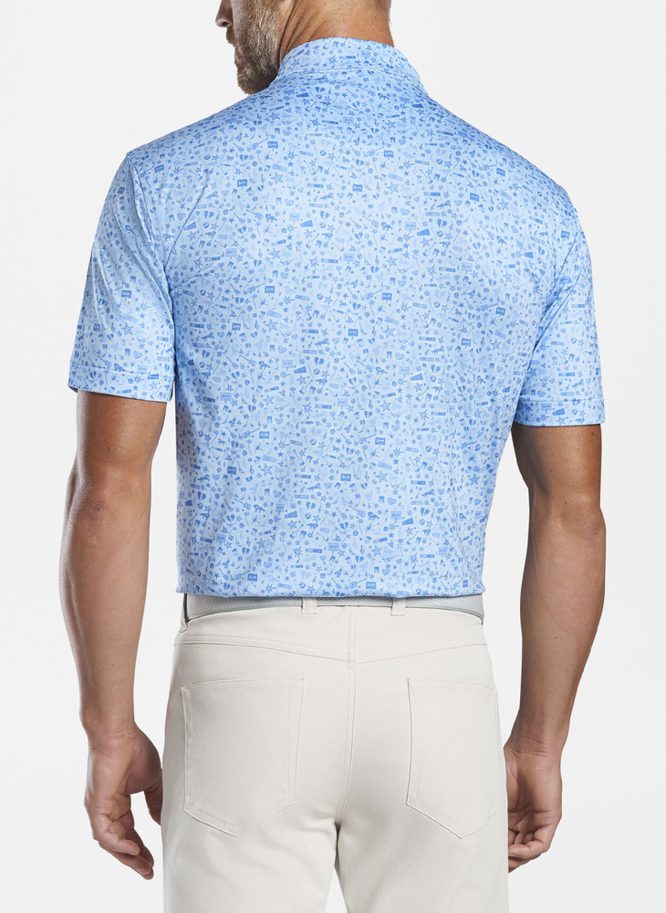 Night Performance Jersey Polo in Cottage Blue by Peter Millar