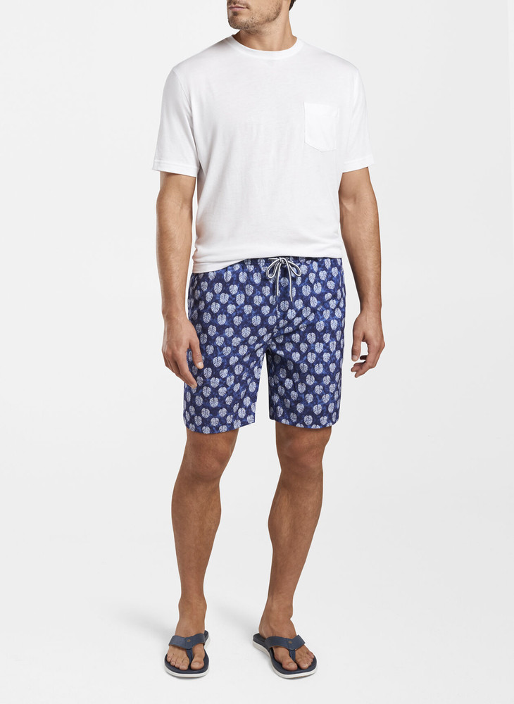Batik Swim Trunk in Navy by Peter Millar