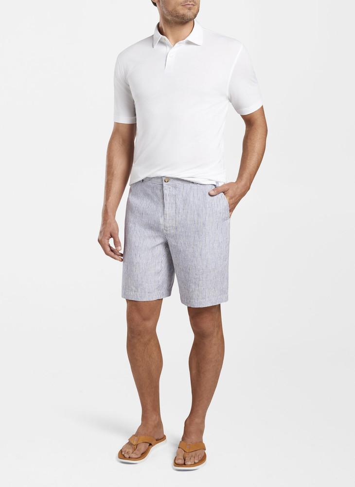 Linen Stripe Shorts in Atlantic Blue by Peter Millar
