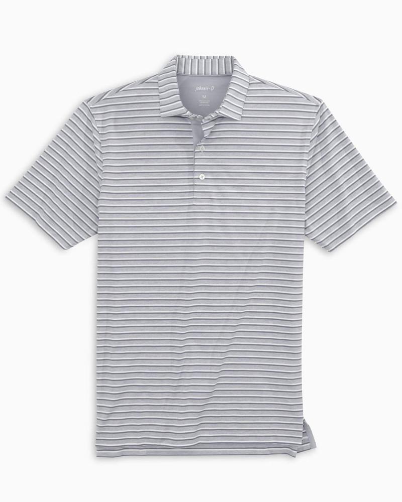 Birdie PREP-FORMANCE Jersey Polo - Zella Stripe in Seal by johnnie-O