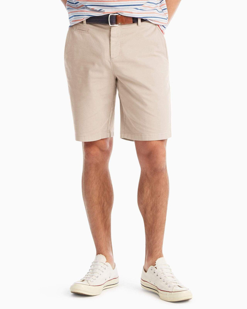 Neal Stretch Twill Shorts in Stone by johnnie-O