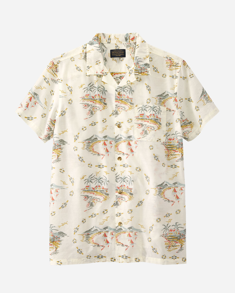 Short-Sleeve Aloha Shirt in Vintage Island by Pendleton