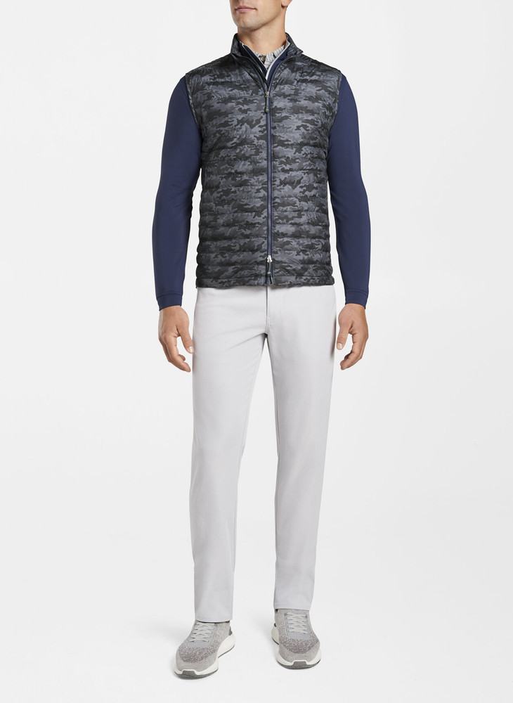 Camo Hyperlight Quilted Vest in Iron by Peter Millar