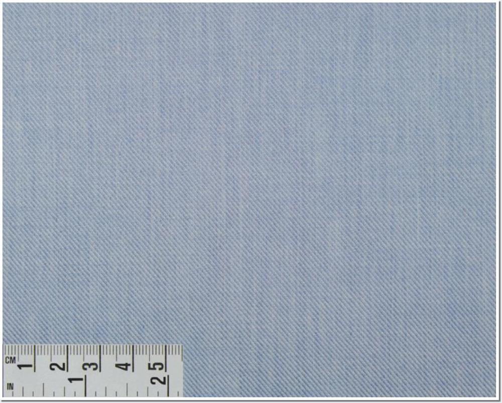 Twill Melange Solid Custom Dress Shirt in Light Blue (1970) by Emanuel Berg