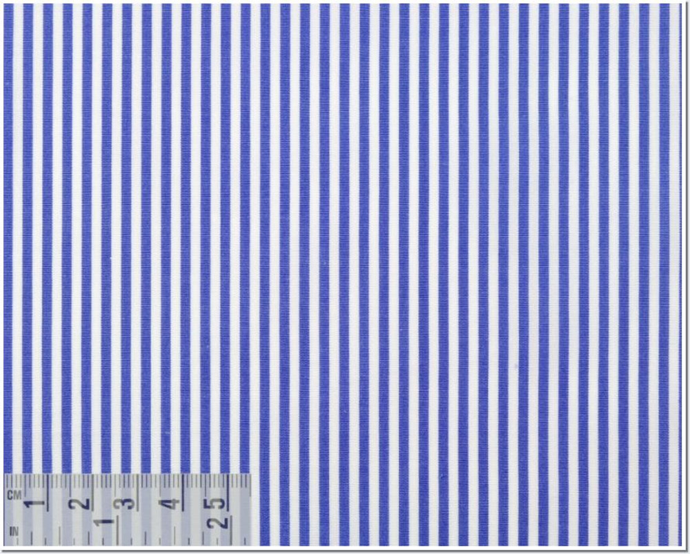 Poplin Stripe 120's 2-Ply Custom Dress Shirt in Royal Blue (1361) by Emanuel Berg