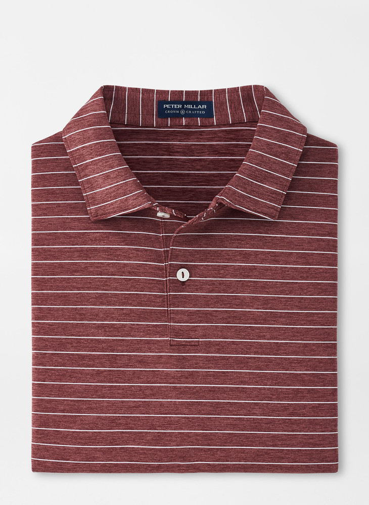 Wright Performance Jersey Polo in Claret by Peter Millar