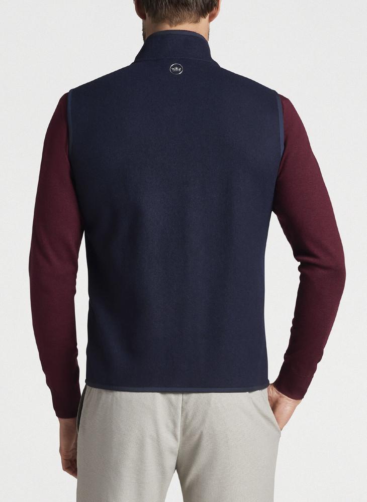 Stealth Fleece Vest in Navy by Peter Millar